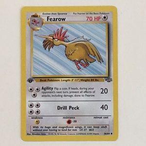 Fearow 1st Edition Jungle Pokémon Card 36/64 1999